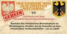 Bericht des Polnischen Botschafters in Paris  In Ergänzung meiner telegrafischen Berichte, die ich die Ehre hatte, Herrn Minister im Laufe der Letzten Woche zu übersenden, gestatte ich mir, hiermit zusammenfassend meine Meinung über die Außenpolitik Frankreichs nach der Konferenz von München und dem Besuch Ribbentrops darzulegen. Das Wichtigste Ereignis dieses Zeitraums war natürlich die von Minister Bonnet und Ribbentrop in Paris am 6. Dezember d. Js. unterzeichnete französisch-deutsche Deklara Washington, Alternative News, Paris, Nato, Europe, Event Calendar, Warsaw, Polish, Relationships