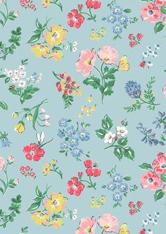 We've captured the English countryside just in time for spring with Meadow print. Join us on a sunny stroll through our wildflower Meadow and take in this fresh, airy floral with a twist Print Wallpaper, Fabric Wallpaper, Pattern Wallpaper, Wallpaper Backgrounds, Iphone Wallpaper, Textures Patterns, Print Patterns, Floral Patterns, Cath Kidston Wallpaper