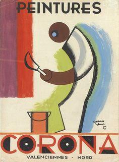 Peintures Corona - Valenciennes, Nord - 1950 - (Maurice Cloud) -