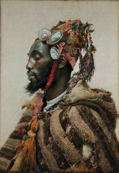 """Moor in a Headress,"" Jose Tapiro y Baro, Spanish orientalist."