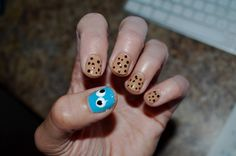 Cookie Monster nails