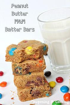 Peanut Butter M and M Bars #dessert