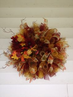 mesh wreaths | Fall Mesh Wreath | Charming Finishes Wreaths