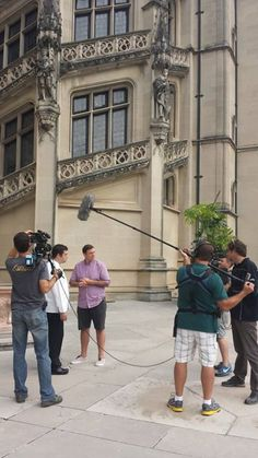 Chef Chuck Hughes visiting #Biltmore House for a show on The Cooking Channel.