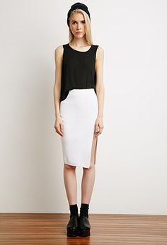 Front Slit Pencil Skirt | Forever 21 - 2000113480