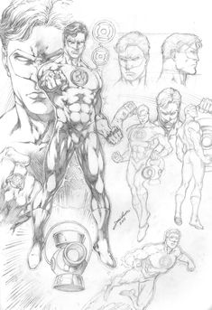 comic character drawings Green Lantern Character Study by comiconart - Comic Book Artists, Comic Book Characters, Comic Artist, Comic Character, Comic Books Art, Comic Drawing, Drawing Sketches, Drawings, Green Lantern Corps