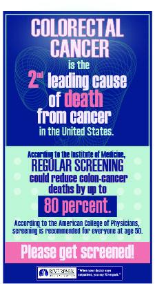 Prevent colon cancer!