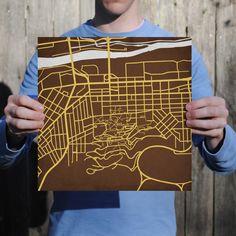 Northeastern University Campus Map Art | Campuses Map Prints | Pinterest