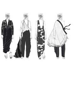 Fashion Sketchbook - fashion illustrations; lineup; fashion portfolio // Victoria Rowe
