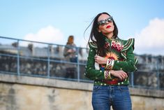 How French Girls Do Street Style For Fashion Week  #refinery29  http://www.refinery29.com/2016/03/105661/paris-fashion-week-fall-winter-2016-street-style-pictures#slide-54  Way better than jeans and a tee......