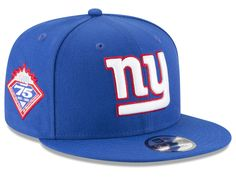 New York Giants New Era NFL Anniversary Patch 9FIFTY Snapback Cap 812538fd760e