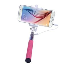 Selfie Stick Yoyorule Mini Handheld Extendable Fold Selfportrait Stick Holder For Cell Phone Pink >>> Check out the image by visiting the link.
