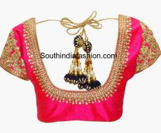 indian sarees blouse embroidery designs - Google Search