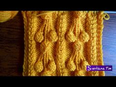 Узор ШИШЕЧКИ НА ВЕТКАХ. Вязание спицами. Вязание на спицах # 105 - YouTube
