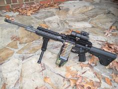 Ares Shrike belt fed Ar-15 Upper.  one of these will set you back $4K :-(