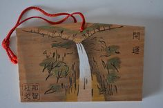 Japanese ema, hand painted  or screen printed wood #79