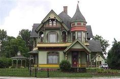 1894 Queen Anne - Cambellsburg, IN (George F. Barber) -  Now that's a Queen Anne!