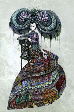 lena snegireva abstract acid lsd art tambuki