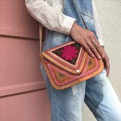 PICK ME - goat leather embroidered shoulder bag