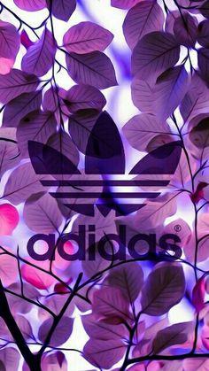 Fond d'écran addidas feuilles violettes