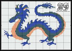 Another Dragon to cross stitch