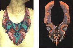 necklace pectoral textil - Buscar con Google