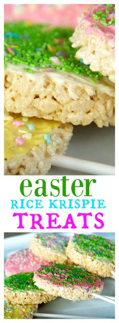Easter Egg Rice Krispie Treats on a Stick