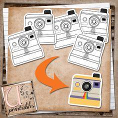 U printables by RebeccaB: FREE Printable - Black and White Polaroid Cameras