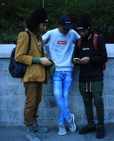 "Found on Pinterest Time/Date: Unknown Place: Possibly New York, NY Supreme in this image shows that their brand is not just about skateboarding, it alludes to urban culture, chillin' with friends, and a laid back mind set. These all create an association with ""cool kids"". Their logo or symbol as well as their name all play a role in this. The bright red screams look, the bold letters emphasize that and the word supreme gives the statement were on top."