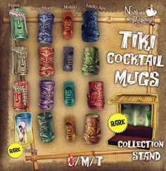 Nylon Outfitter's Tiki Cocktail Mugs for Arcade