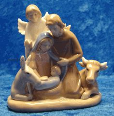 "4"" Porcelain Nativity Scene Figurine from www.yonderstar.com"