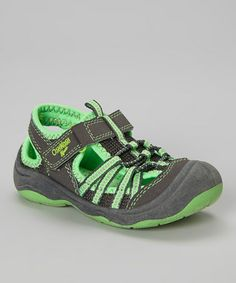 34cd16c633733 kids sandal · Look what I found on #zulily! Gray & Neon Green Motion  Sport Sandal