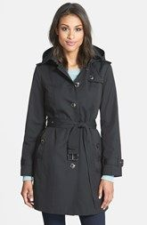 MICHAEL Michael Kors Trench Coat with Detachable Hood & Liner