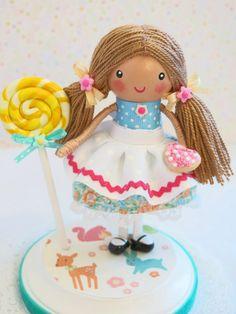 Available & Ready to Ship~ Springtime Fantasy Birthday Cake Topper~Vintage…