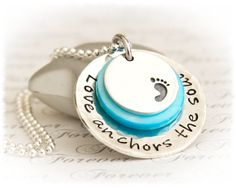 New Baby Jewelry - Personalized New Mom Pendant - Mom to Be Necklace