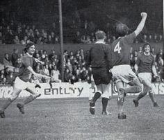 Stoke v Everton 1971-72, Howard Kendall scoring Everton goal 1-1