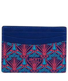 Blue Iphis Leather Card Holder  Liberty of London