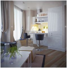 Small apartment with a ingenious design (LIGHT)