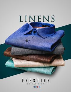Linen for the summer? that's a no-brainer! Stay cool while looking the part in our #Linen shirts! Head to #PrestigeTheManStore to shop the colour ways
