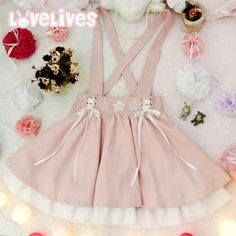 2016 WomenS Summer Cherry Embroidery Strap Dress Bow Strap Pink Short Skirts
