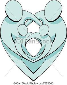 Vector - Heart Family Concept Graphic - stock illustration, royalty free illustrations, stock clip art icon, stock clipart icons, logo, line art, EPS picture, pictures, graphic, graphics, drawing, drawings, vector image, artwork, EPS vector art