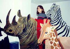 ΖΩΓΡΑΦΙΚΗ ΓΙΑΝΝΗΣ ΓΕΩΡΓΙΑΔΗΣ: ΖΩΓΡΑΦΙΚΗ ΖΩΩΝ Giraffe, Lion Sculpture, Statue, Painting, Animals, Art, Art Background, Felt Giraffe, Animales