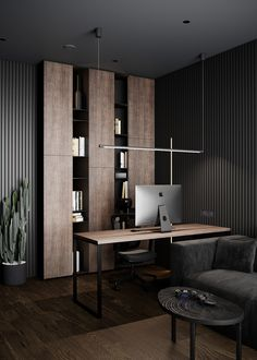 Modern Home Offices, Modern Office Design, Office Furniture Design, Office Interior Design, Home Office Decor, Office Interiors, Home Decor, Interior Design Portfolios, Dental Office Design
