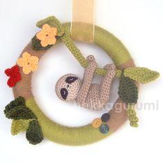 Tummy the dozy sloth Playful and fun baby shower by hekkagurumi