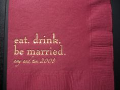 Cute napkins for a wedding reception