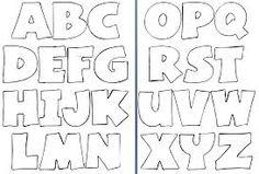 moldes de letras para fieltro - Buscar con Google