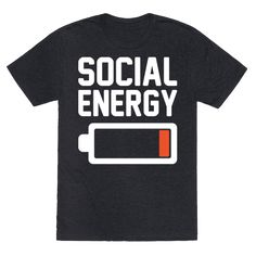 Social Energy Low White Print - Social energy is low, sorry can't go out must cancel plans! Forget about any plans you may have, show the world that you are running low on social energy and relax with this funny, lazy, introvert shirt!