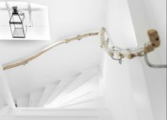 Rambarde avec un tuyau de cuivre diy escalier for Rampe escalier bois flotte
