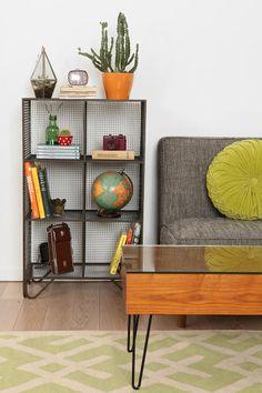 Locker Room Storage Shelf... Looks a bit too retro, but gosh- that cabinet! Gimme! ... <3 Livingroom