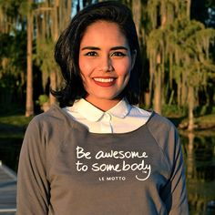 """""""Be awesome to somebody"""" Le Motto Sweater styled by @aparisianinamerica"""